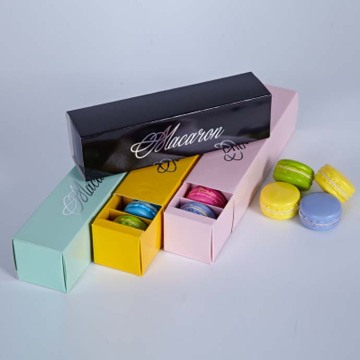 Sliding Shape Design Paper Macaron Packing Box