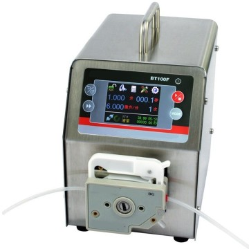 Medical intelligent dispense peristaltic pump with timer