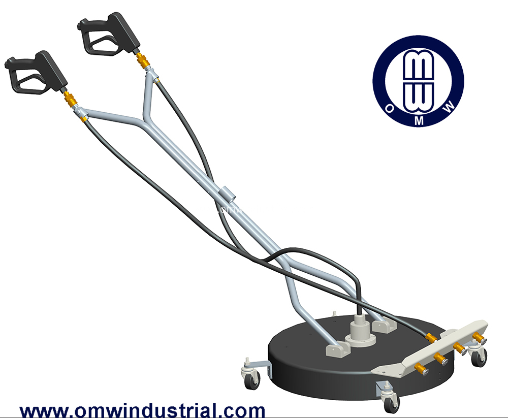 "24"" Dual Spinner Rotary Cleaner with Caster Wheels"