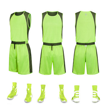 Reversible basketball jersey for men
