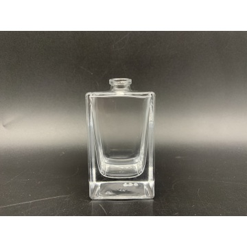 50ml clear square glass bottle for men's spray