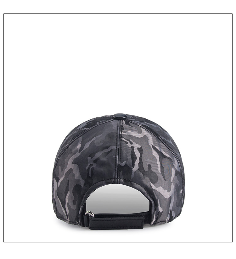 2018 Custom Adjustable Blue Camouflage Baseball Cap 4