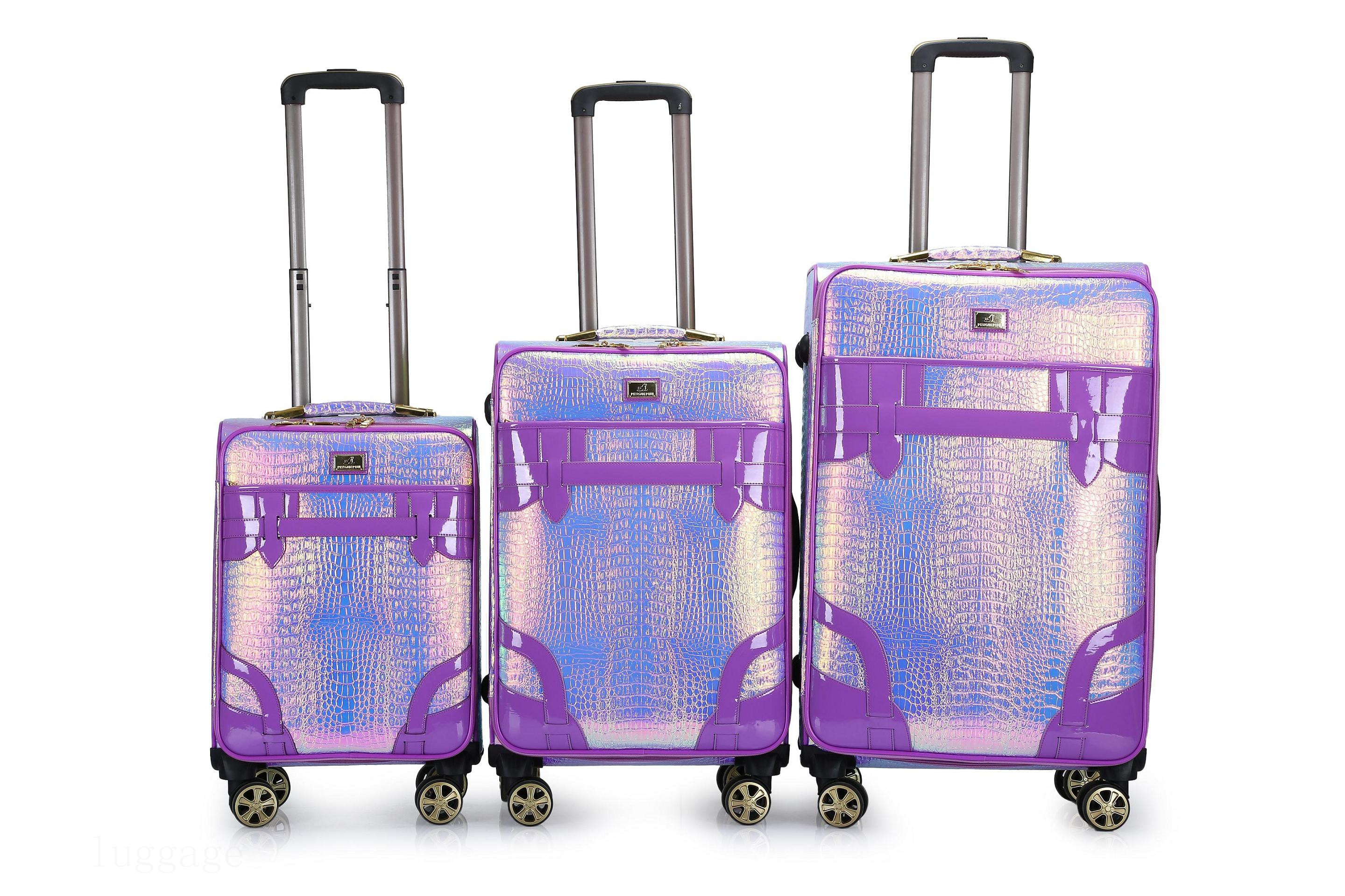 3128#PU luggage bags trolley bags