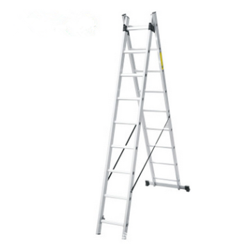 Aluminum section extension ladder