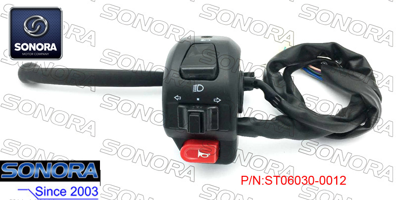 BENZHOU YY50QT L. Handle Switch Assy-with Black Lever (P/N:ST06030-0012) Top Quality
