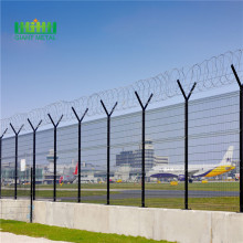 Security welded airport fencing