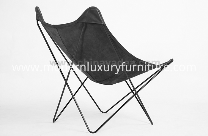 Designer Metal Frame Butterfly Lounge Chairs