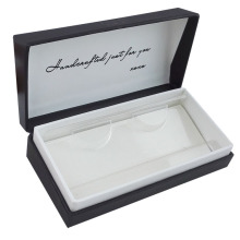 Display Type Black Logo Stamped Eyelash Paper Box
