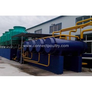 Condensor of rendering plant