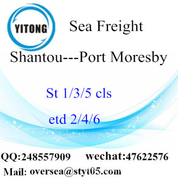 Shantou Port LCL Consolidation To Port Moresby
