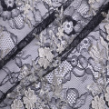 Fashion 3D Flower Embroidery  On Lace Ground