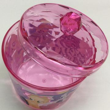 Plastic round box with lid