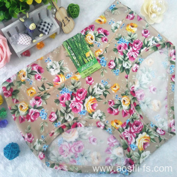 AS-5668 China wholesale cheap plus size underwear for fat women printed bamboo fiber underware
