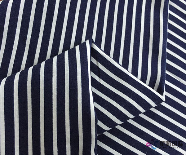 Fashion Stylish White Stripe Rayon Fabric