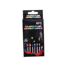 Colorful candles birthday candle