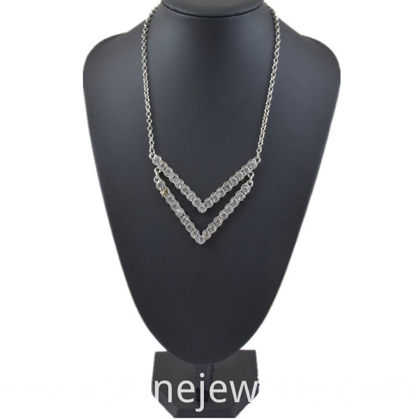 Alloy Rhinestone Necklace