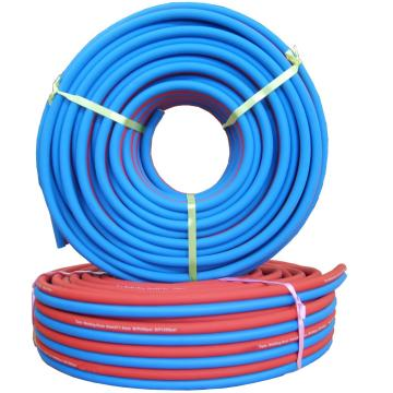 Flexible PVC twin welding hose