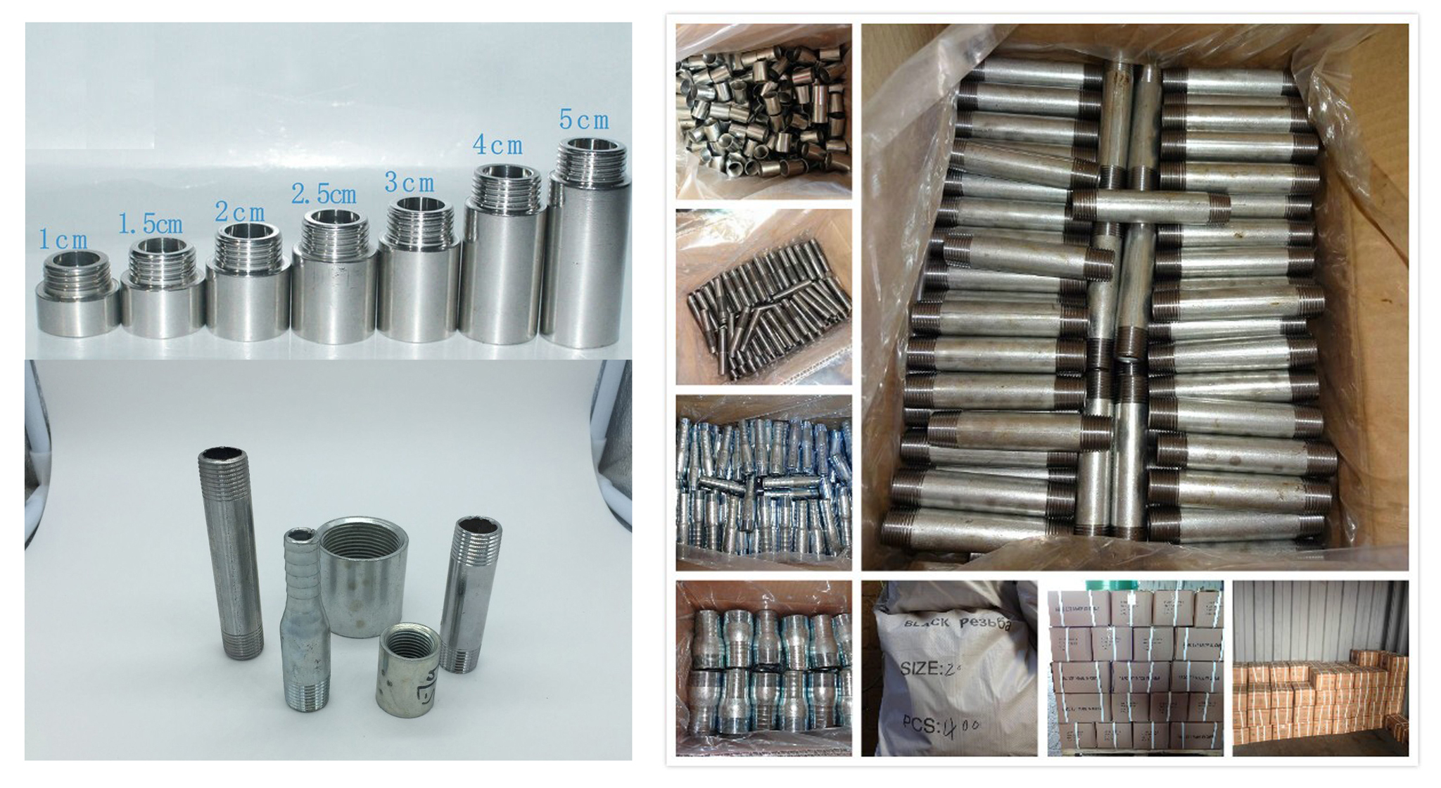 nipple for malleable iron pipe fittings
