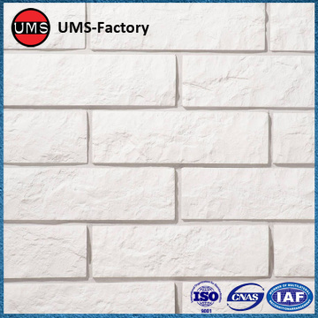 Antique stone brick effect tiles white