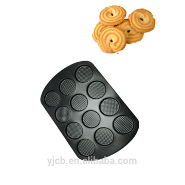 Big Size 12 Shape Black Color Cookies Tray
