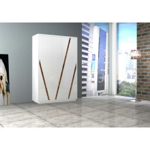 Modern white high gloss bedroom wardrobe