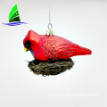 red glass bird tree decoration ornaments for Christmas