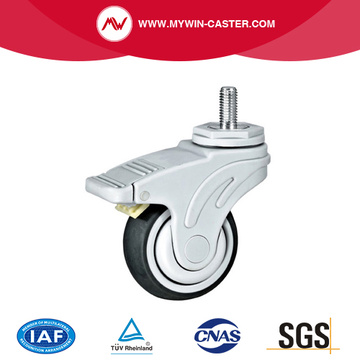 Threaded Stem TPR Medical Caster Wheel