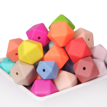 Loose Hexagon Silicone Teething Beads