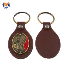 Leather keychain template with pattern
