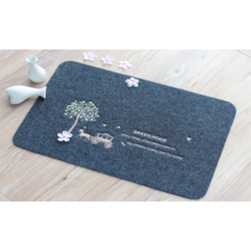Door mat with pattern embroidery printed foot mats