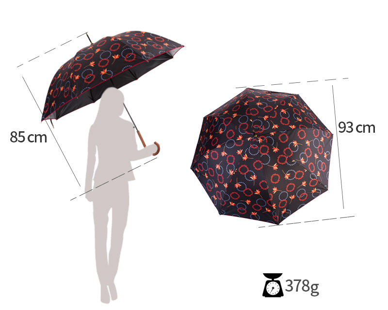 women's umbrella wooden handle