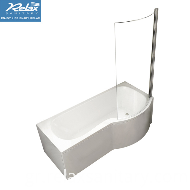 P-shaped Shower Bathtub