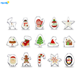15PCS Stainless Steel Christmas Cookie Cutter Set