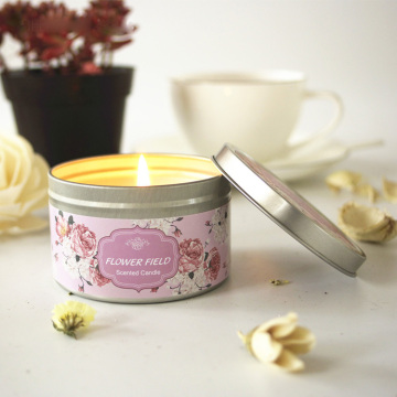 100% Soy wax perfume candle in nice tin jar