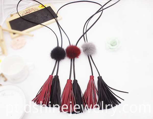 Mink Fur Ball Pom pom for necklace