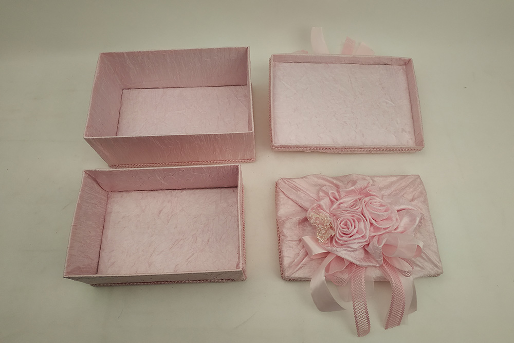 Pink Wedding Gift Box wrapped in satin ribbon