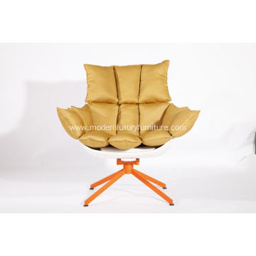 Best Quality for Fiberglass Lounge Egg Chair white husk chair with orange seat cushion export to Portugal Exporter