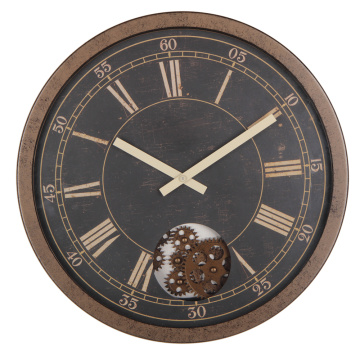 Retro 16 Inches Rustic Gear Wall Clock
