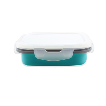 Collapsible Silicone Food Storage Container With Lids