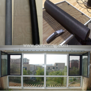 Black And Grey Insect Fiberglass Window Mesh