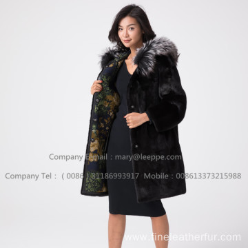 WInter Kopenhagen Reversible Mink Fur Hooded Coat