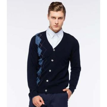 Men's Pure Cashmere V Neck Cardigan