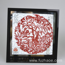 Special Price for Handmade Square Mounted Paper-Cut Paper-cut scroll Chinese paper-cut blessing craft gift export to Macedonia Manufacturer
