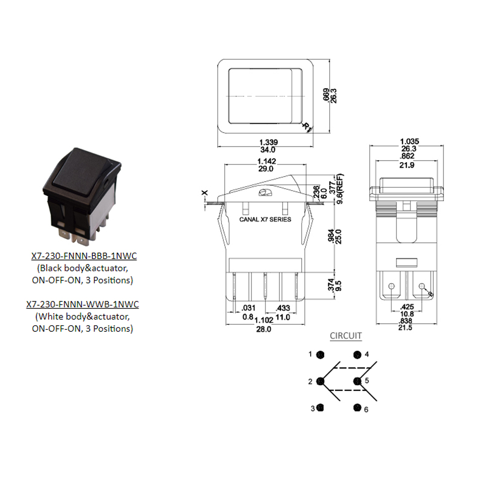 Marine Rocker Switches