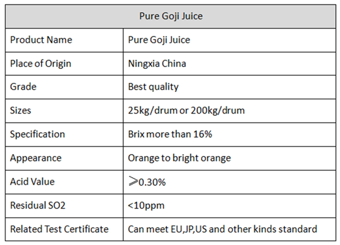 Organic Goji Raw Juice With NOP EU Certified (5)