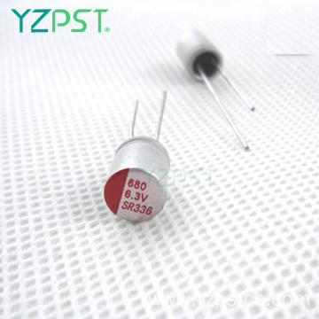 Aluminum lowes solid polymer capacitor