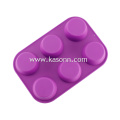 8 Cavity Large Silicone Cupcake Bread Baking Molds