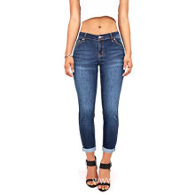Women's Juniors Mid-Rise Capri Jeans Stretch