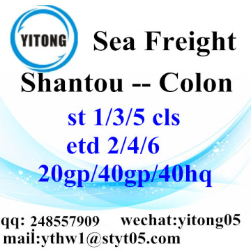 Shantou Ocean Freight Shipping Company to Colon