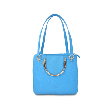 Roger Viver Flower Buckle Calfskin Top Handle Satchel